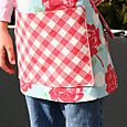 gingham and roses apron